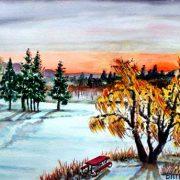 Sunrise-At-Winter-Lake